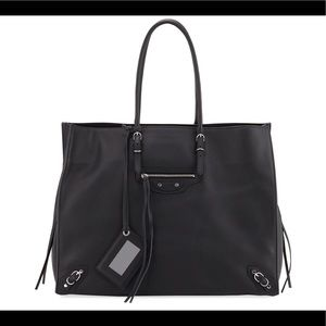 Balenciaga Papier A4 Zip Around Leather Tote